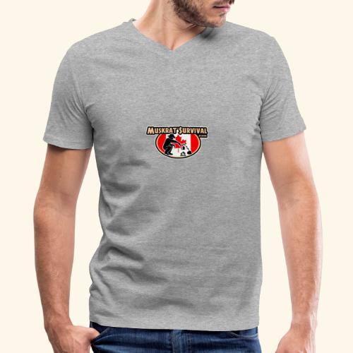 Muskrat Badge 2020 - Men's V-Neck T-Shirt by Canvas