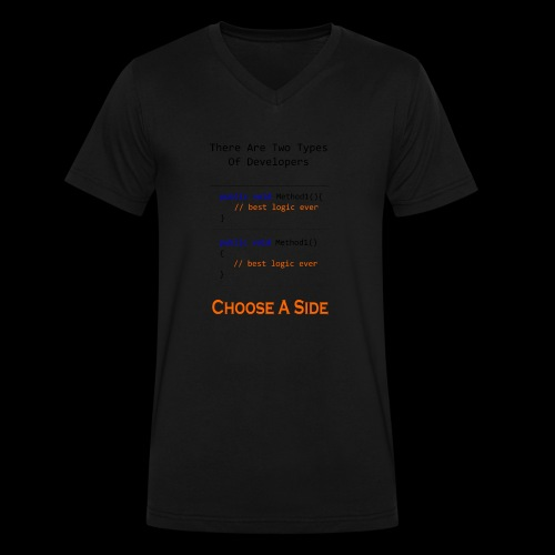 Code Styling Preference Shirt - Men's V-Neck T-Shirt by Canvas