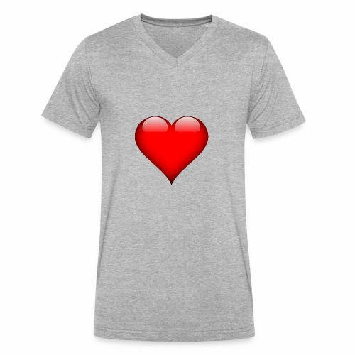 pic - Men's V-Neck T-Shirt by Canvas