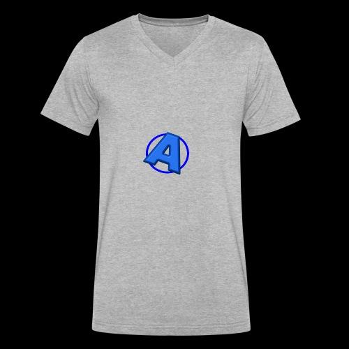 Awesomegamer Logo - Men's V-Neck T-Shirt by Canvas