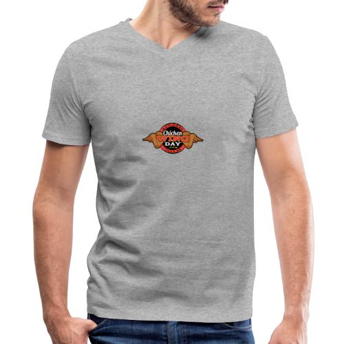 Chicken Wing Day - Men's V-Neck T-Shirt by Canvas