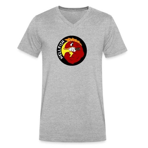 Hellfish - Flying Hellfish - Men's V-Neck T-Shirt by Canvas