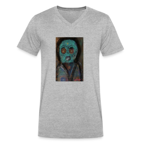 The galactic space monkey - Men's V-Neck T-Shirt by Canvas