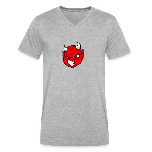 Rebelleart devil - Men's V-Neck T-Shirt by Canvas