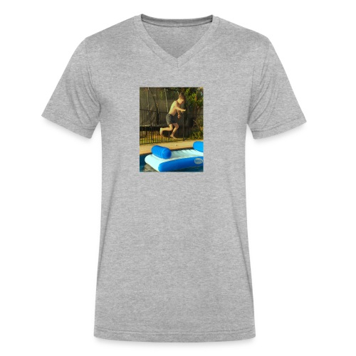 jump clothing - Men's V-Neck T-Shirt by Canvas