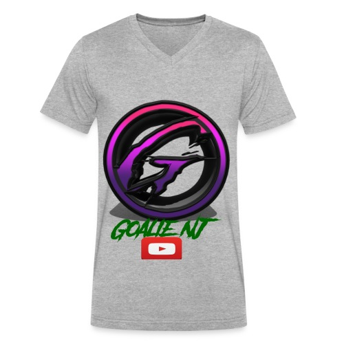 goalie nj logo - Men's V-Neck T-Shirt by Canvas