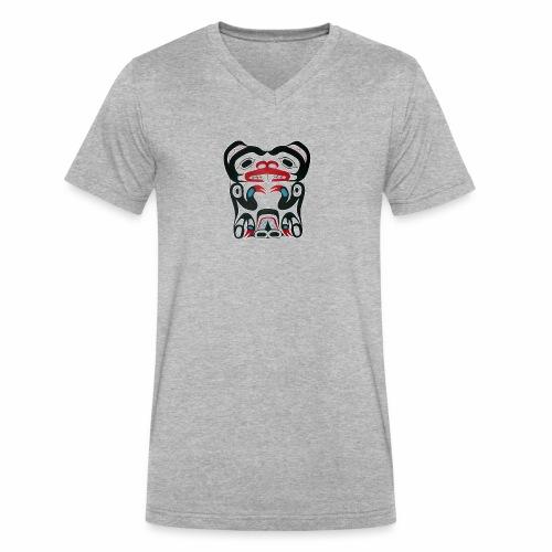 Eager Beaver - Men's V-Neck T-Shirt by Canvas