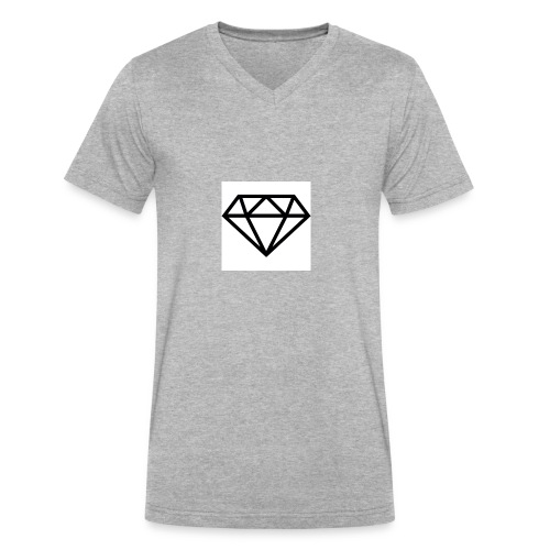 diamond outline 318 36534 - Men's V-Neck T-Shirt by Canvas