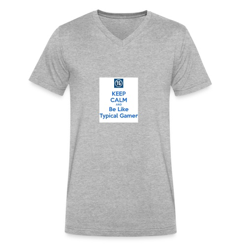 keep calm and be like typical gamer - Men's V-Neck T-Shirt by Canvas