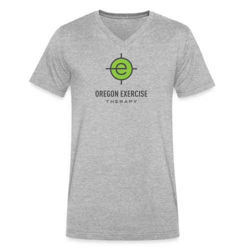 OET Logo Name Gray - Men's V-Neck T-Shirt by Canvas