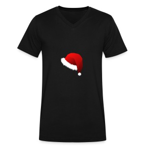 Carmaa Santa Hat Christmas Apparel - Men's V-Neck T-Shirt by Canvas
