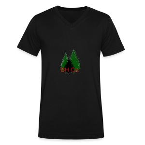 EVERGREEN LOGO - Men's V-Neck T-Shirt by Canvas