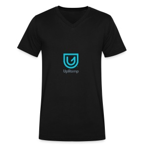 UpRamp Logo Blue Stacked ColorWhite - Men's V-Neck T-Shirt by Canvas