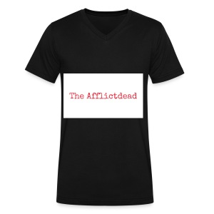 The Afflictdead Logo - Men's V-Neck T-Shirt by Canvas