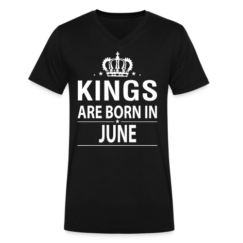 Kings Are Born In June - Men's V-Neck T-Shirt by Canvas