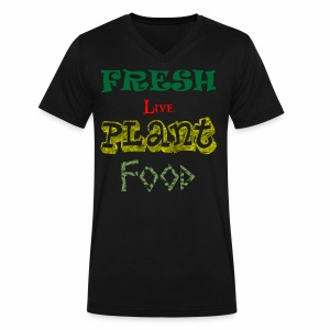 Fresh Live Plant Food - Men's V-Neck T-Shirt by Canvas