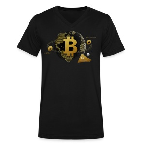 Bitcoin World - Men's V-Neck T-Shirt by Canvas