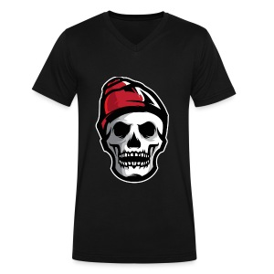 Custom Skull With Ice Cap Merch! - Men's V-Neck T-Shirt by Canvas