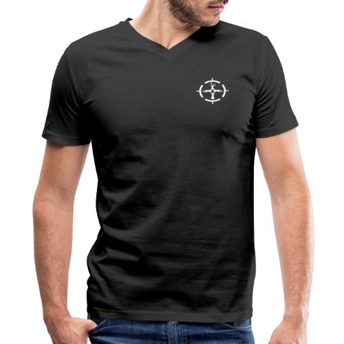 Center of Gravity - Men's V-Neck T-Shirt by Canvas