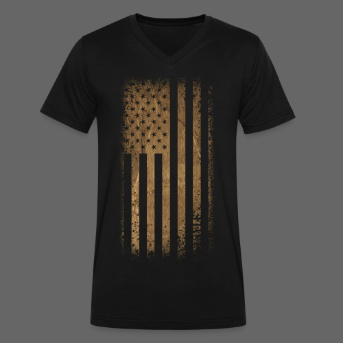 Tattered Flag - Men's V-Neck T-Shirt by Canvas