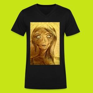 Golden girl - Men's V-Neck T-Shirt by Canvas