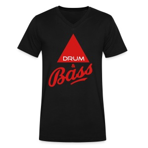 Drum and Bass - Men's V-Neck T-Shirt by Canvas