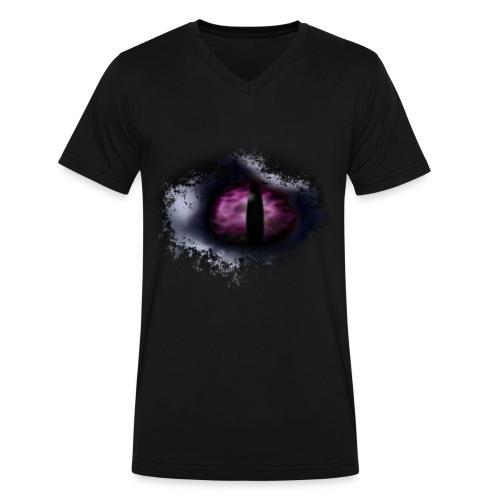 Dragon Eye - Men's V-Neck T-Shirt by Canvas