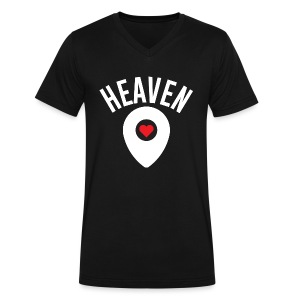 Heaven Is Right Here - Men's V-Neck T-Shirt by Canvas