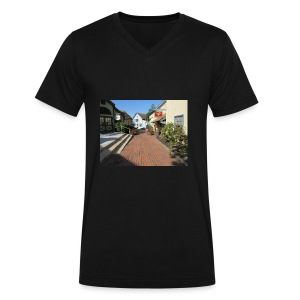 Historic Village - Men's V-Neck T-Shirt by Canvas