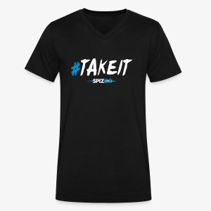#takeit black - Spizoo Hashtags - Men's V-Neck T-Shirt by Canvas
