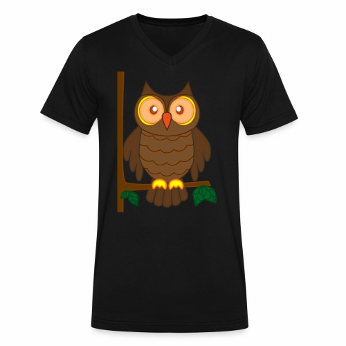 Hey I'm the fire owl - Men's V-Neck T-Shirt by Canvas