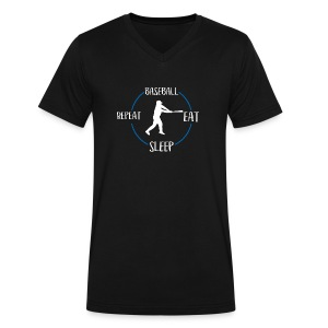 Baseball, Eat, Sleep, Repeat - Men's V-Neck T-Shirt by Canvas