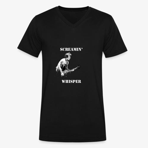 Screamin' Whisper Filth Design - Men's V-Neck T-Shirt by Canvas