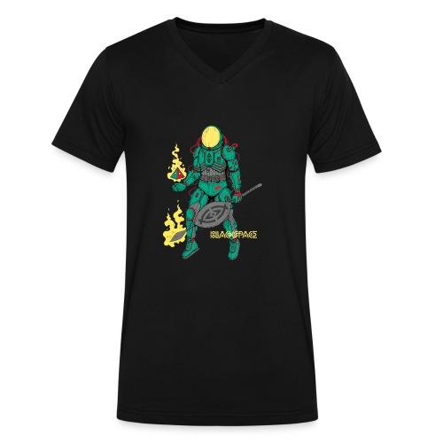 Afronaut - Men's V-Neck T-Shirt by Canvas