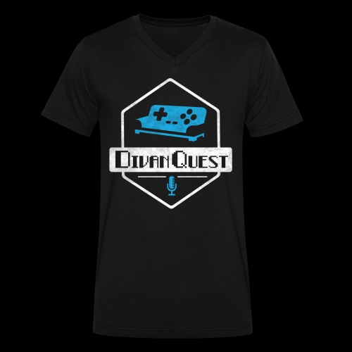 DivanQuest Logo (Badge) - Men's V-Neck T-Shirt by Canvas