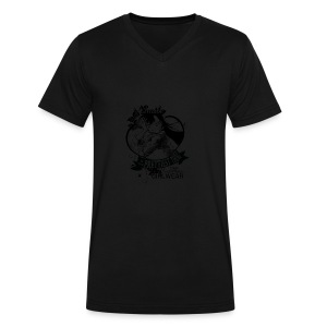 A SMILE is the prettiest thing-Ran Mori - Men's V-Neck T-Shirt by Canvas
