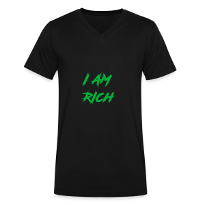 I AM RICH (WASTE YOUR MONEY) - Men's V-Neck T-Shirt by Canvas