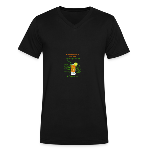 Schlong Island Iced Tea - Men's V-Neck T-Shirt by Canvas