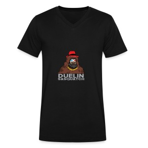 Duelin Sasquatch - Men's V-Neck T-Shirt by Canvas