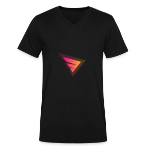 Logo IteX with another background logo - Men's V-Neck T-Shirt by Canvas