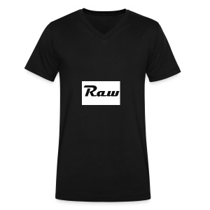 raw - Men's V-Neck T-Shirt by Canvas