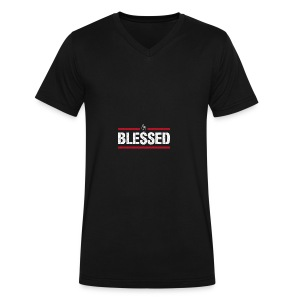 Blessed Tee - Men's V-Neck T-Shirt by Canvas
