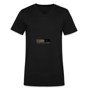 Hustle_Life - Men's V-Neck T-Shirt by Canvas