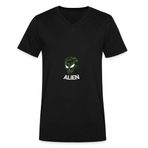 Military Alien - Men's V-Neck T-Shirt by Canvas