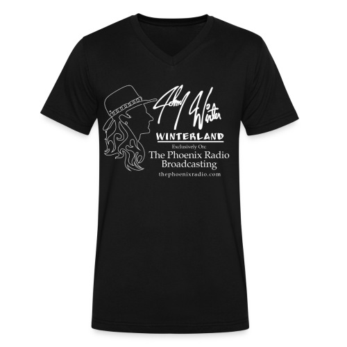 Johnny Winter's Winterland - Men's V-Neck T-Shirt by Canvas