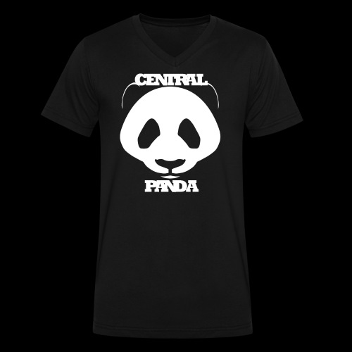Central Panda - Men's V-Neck T-Shirt by Canvas