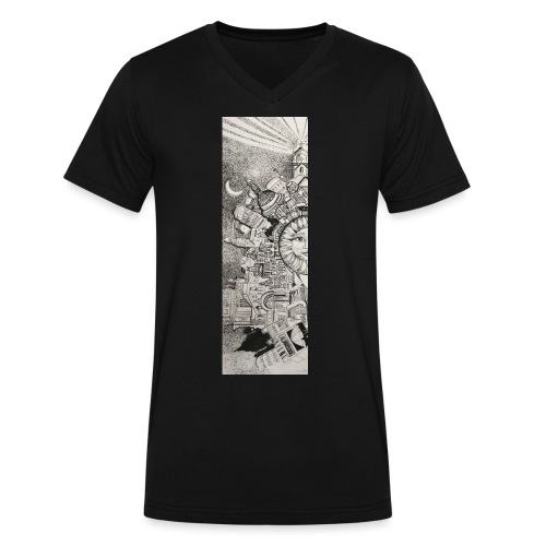 Explore Your World by Timothy Leistner - Men's V-Neck T-Shirt by Canvas