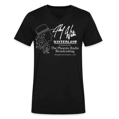 Johnny Winter's Winterland - Men's V-Neck T-Shirt by Canvas