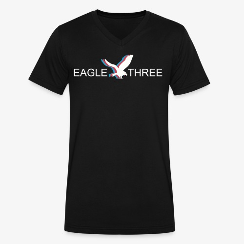 EAGLE THREE APPAREL - Men's V-Neck T-Shirt by Canvas