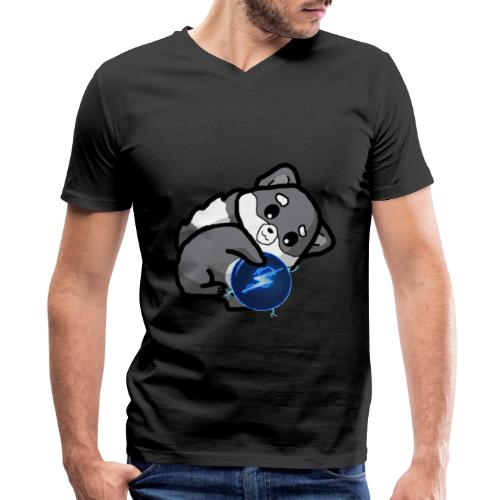 Eluketric's Zapp - Men's V-Neck T-Shirt by Canvas